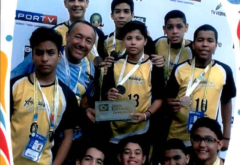 Equipe de Voleibol conquista a 3ª Colocação nos Jogos da Juventude 2015 na cidade de Fortaleza